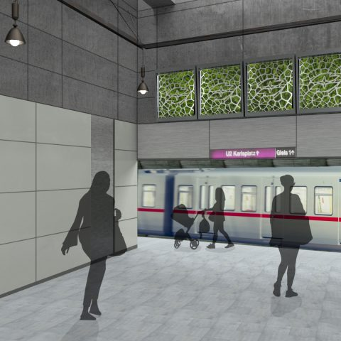 aeroSQAIR installation in a viennese underground station